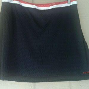 Izod Skort Black Sport Golf Tennis Built in Shorts
